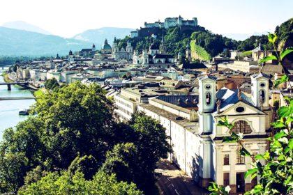 Bild: Blick auf die Altstadt Salzburg mit Hohenfestung